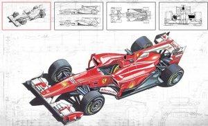 Supuestos bozetos del Ferrari F11